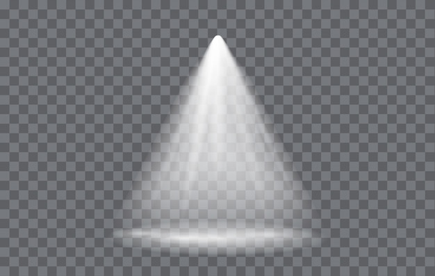 Light effect spotlight with transparent background