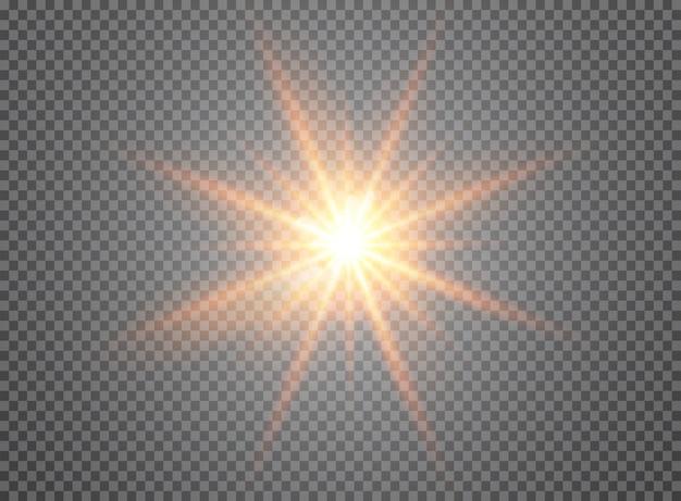 Light effect on transparent background