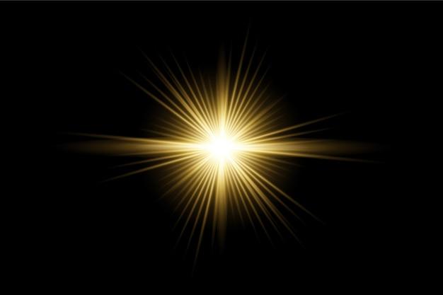 光の効果の透明なベクトルカスタムレンズフレアパック