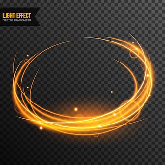 Light Effect vector transparent with golden sparkles