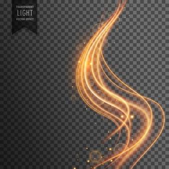 Золотая волна прозрачный световой эффект фона