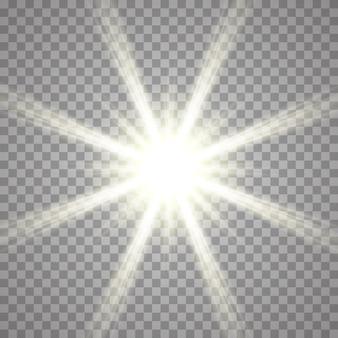 透明な背景への光の効果