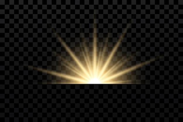 Световые эффекты устанавливают золотые звезды боке сверкающие частицы