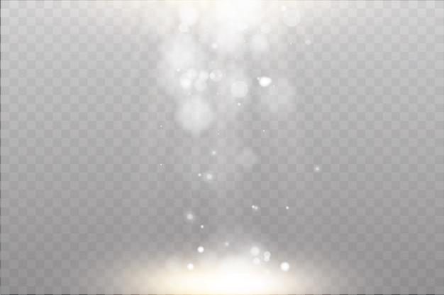 빛의 광선과 마법의 반짝임으로 가벼운 플레어 특수 효과.