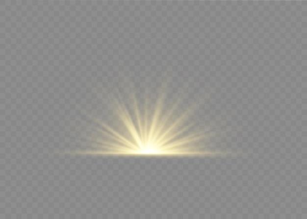 Световой эффект вспышки с лучами света
