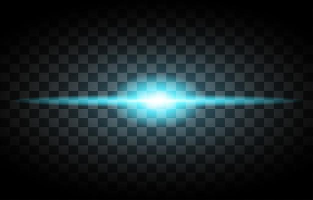 Свет бликов вектор прозрачный. светящиеся иллюстрации.