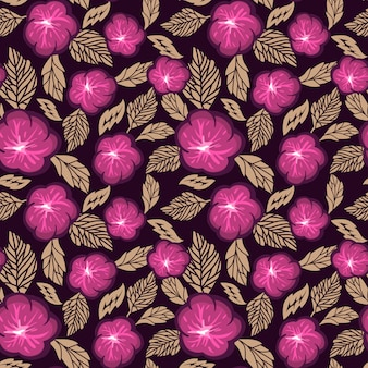 Light floral seamless pattern. red and beige