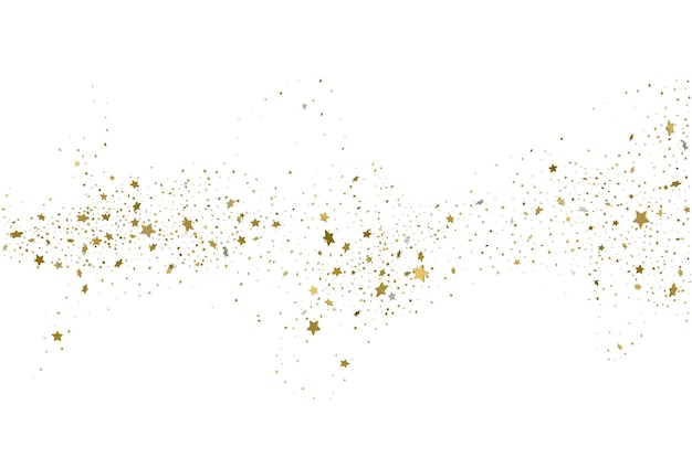 ライトゴールドのキラキラ紙吹雪の背景d星