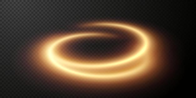 Светло-золотой twirl curve световой эффект золотой линии светящийся золотой круг светло-золотой педисталь