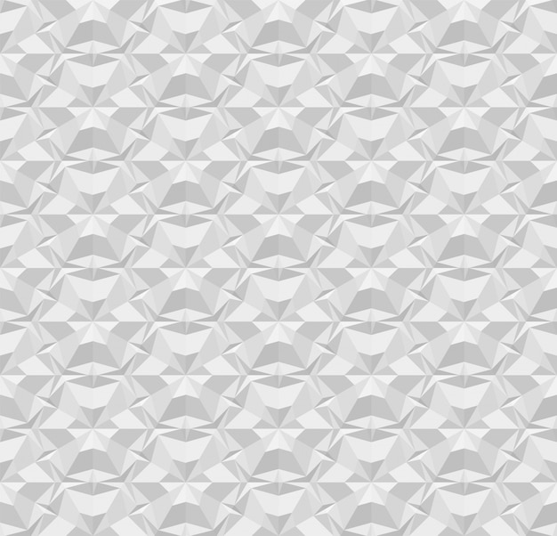 Light gray polygonal seamless paper pattern. repeating geometric texture with extrusion effect.   illustration with origami effect for background, wallpaper, interior, wrapping paper. eps 10