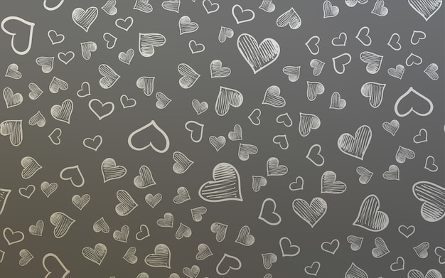 Light gray vector pattern with colorful hearts