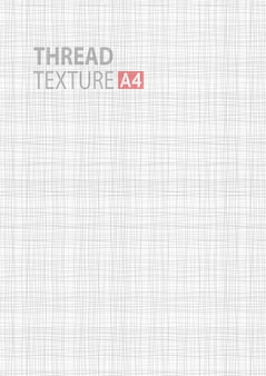 Light gray white line fabric texture in a4 vector size background