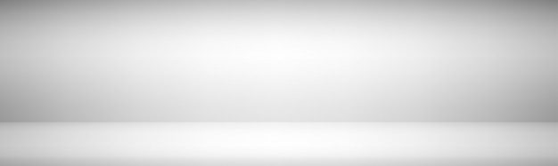 Light gray wide gradient modern studio showcase background