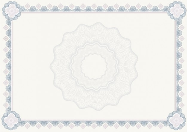 Light grays and blues diploma Free Vector