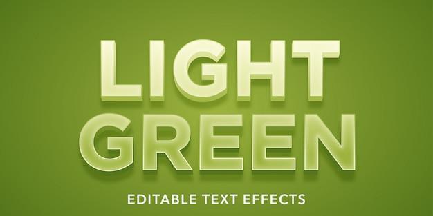 薄緑色の編集可能なテキスト効果