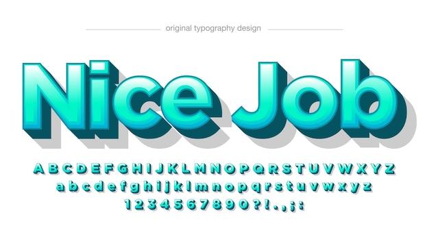Light green modern 3d cartoon typography