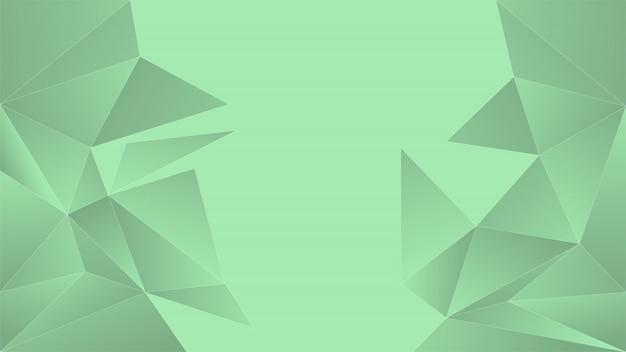 ライトグリーンの多角形の背景。