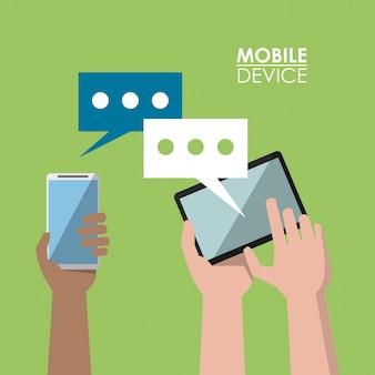 Light green poster mobile device