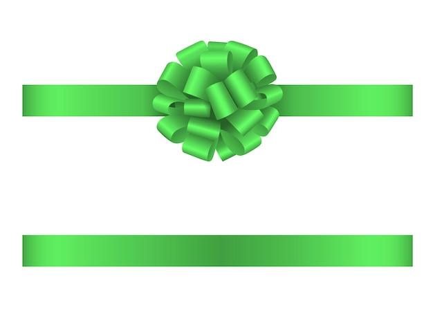 Светло-зеленая лента и бант