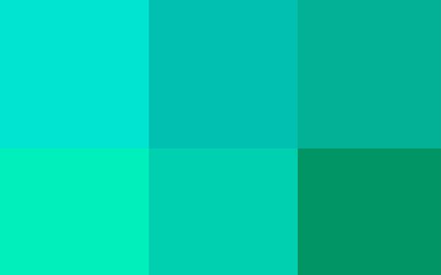 カラフルなパレット付きライトグリーンベクトルカバー