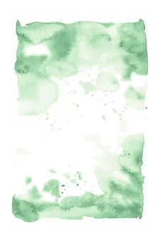 밝은 녹색 수채화 손으로 그린 벡터 얼룩 디자인에 대 한 흰색 배경에 고립.