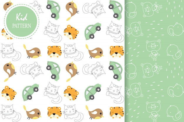 Light green white seamless pattern