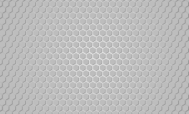 Light grey hexagonal textured background.