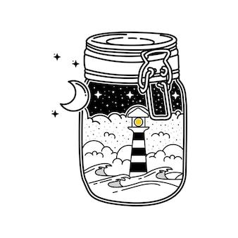 瓶の中の灯台