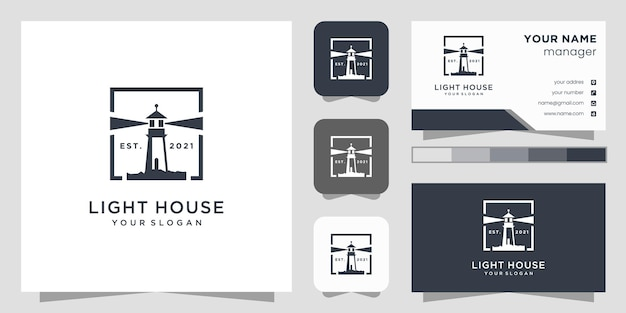 Light house logo  and business card.