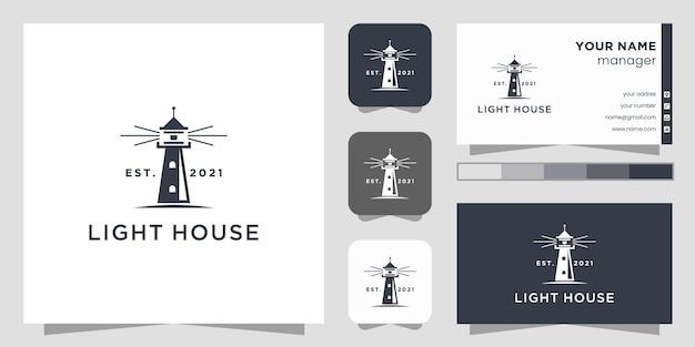 灯台のロゴのテンプレート