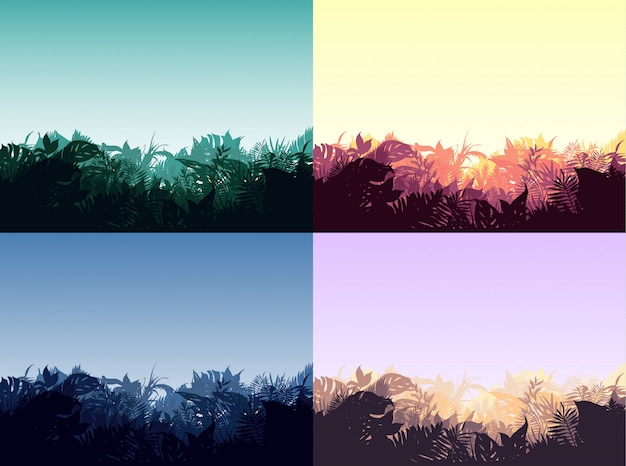 Коллекция light jungle landscapes