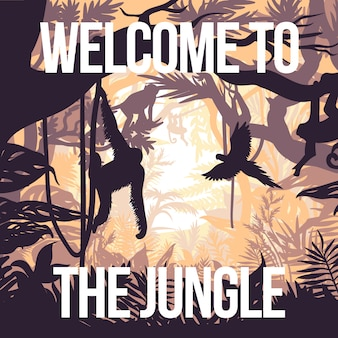 Light jungle party poster