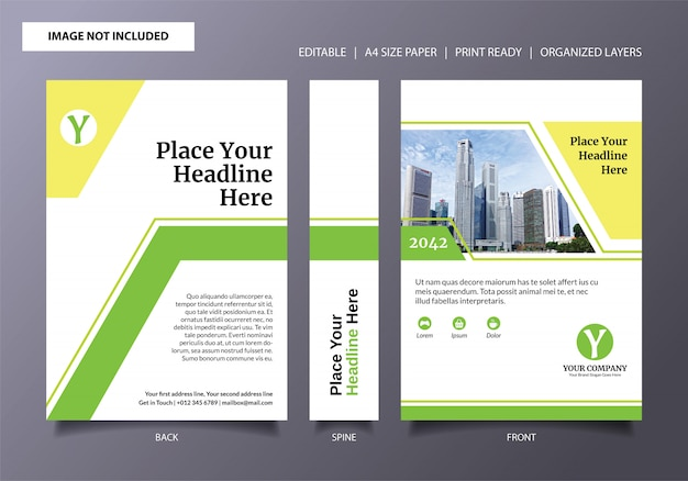Light lime fresh book cover template