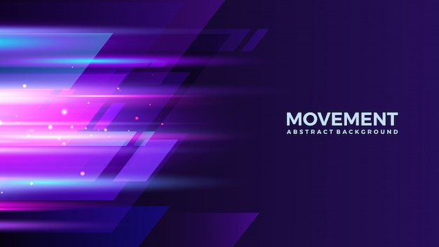 Light movement abstract background design template