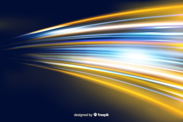 Light movement background with abstract shapes