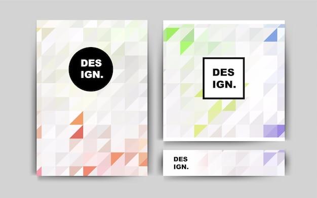 Light multicolor vector banner for websites