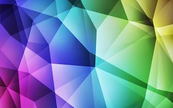 ライト多色ベクトル勾配三角形パターン。