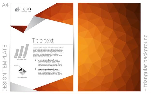 Light orange vector background for leaflets