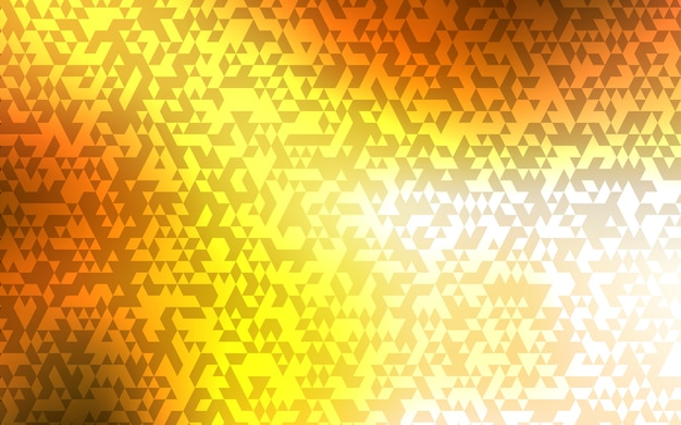 Light orange vector template with crystals, triangles.