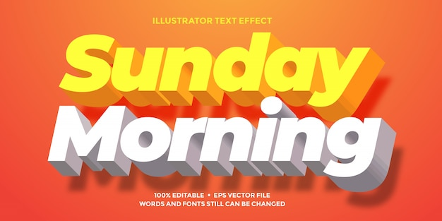 Light  orange  and white text effect  clean