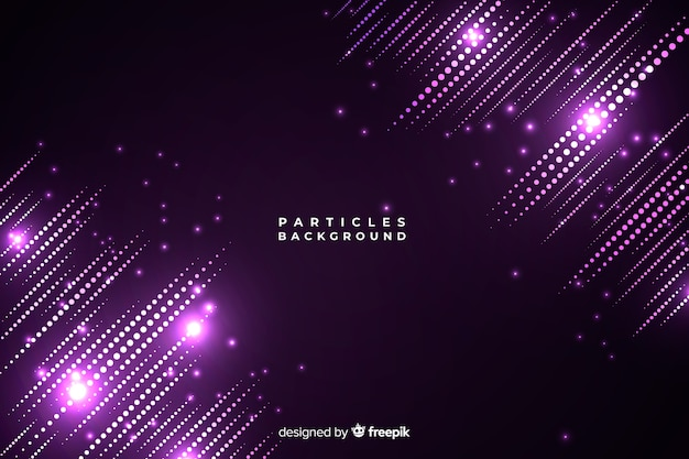 Light particles background