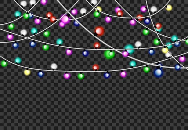 Light party background tranparant greeting decoration