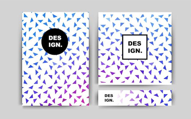 Light pink blue vector brochure for ui ux design