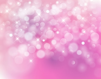 Light pink bokeh background made from white lights