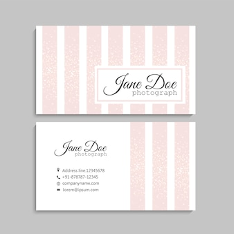 Light pink business card design