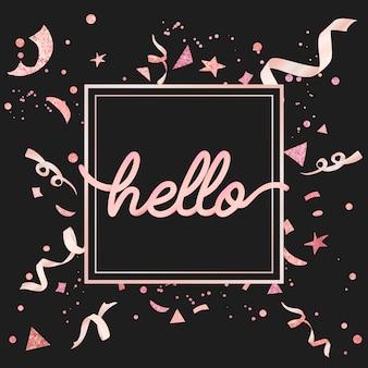 Design celebrativo di coriandoli rosa chiaro