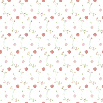 Light pink green bouquet seamless pattern background