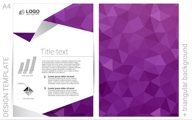 Light pink vector brochure for ui ux design