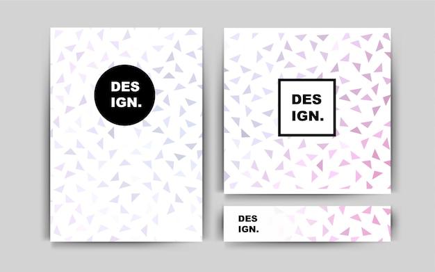 Light pink vector layout for leaflets
