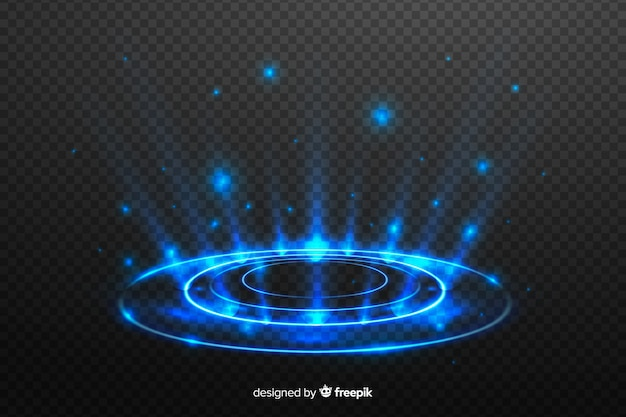 Light portal effect on dark background